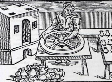 image 10 detail from De la pirotechnia by Vannaccio Biringucci, Venice 1540,  Smithsonian Libraries