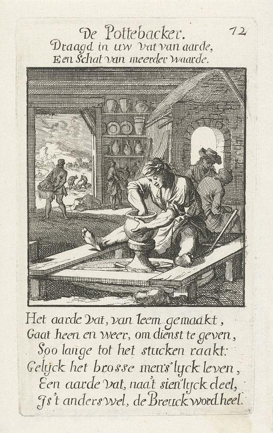 image 11 Illustration from Het menselijk bedrijf, Johannes and Caspaares Luiken,  1694