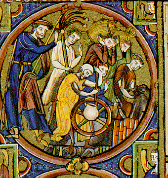 image 2 Detail from the Bible Moralisée Codex Vindobonensis 2554, first half 13th century