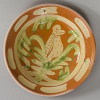 replica of a dish from Aardenburg / 1250-1500 / original in collection Gemeentelijk Archeologisch Museum Aardenburg