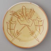 replica of a dish found in Edam / 1475-1525 / original in collection Boijmans van Beuningen Museum in Rotterdam