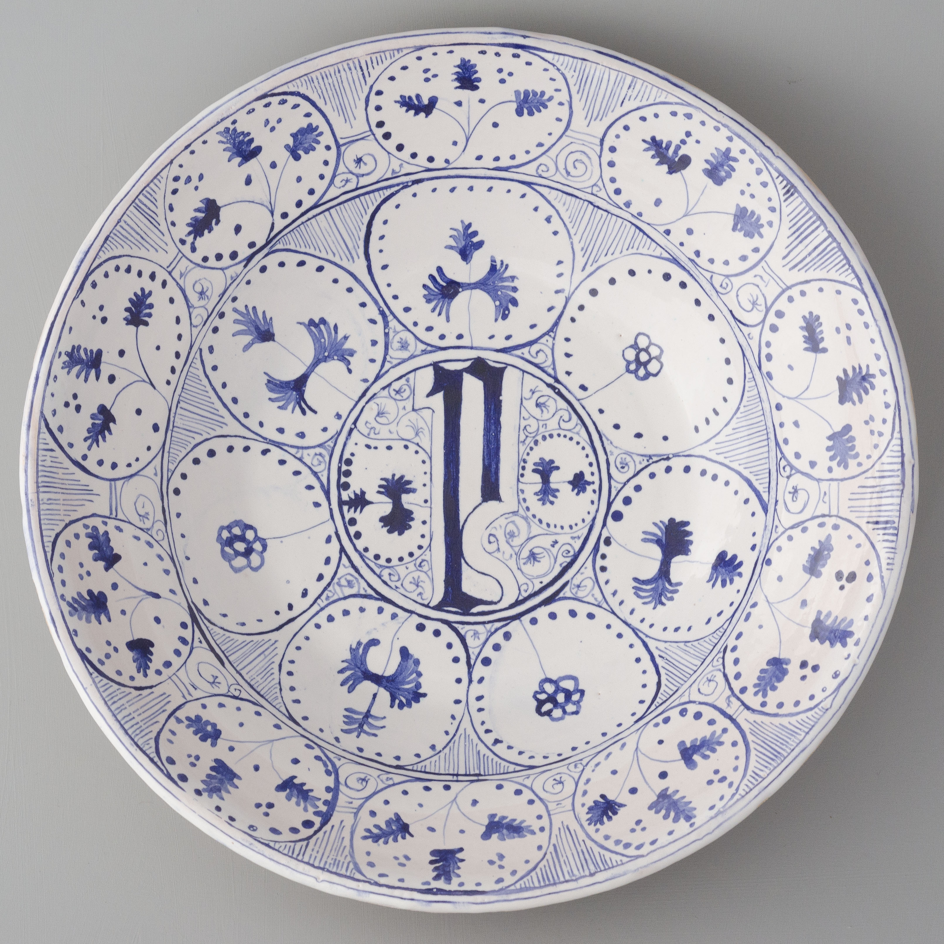 replica of a dish from Montelupo / 1460-1470
