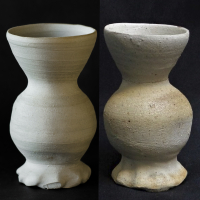 funnel cup / left: reconstruction / right: original from VSKMcollections / 15th century