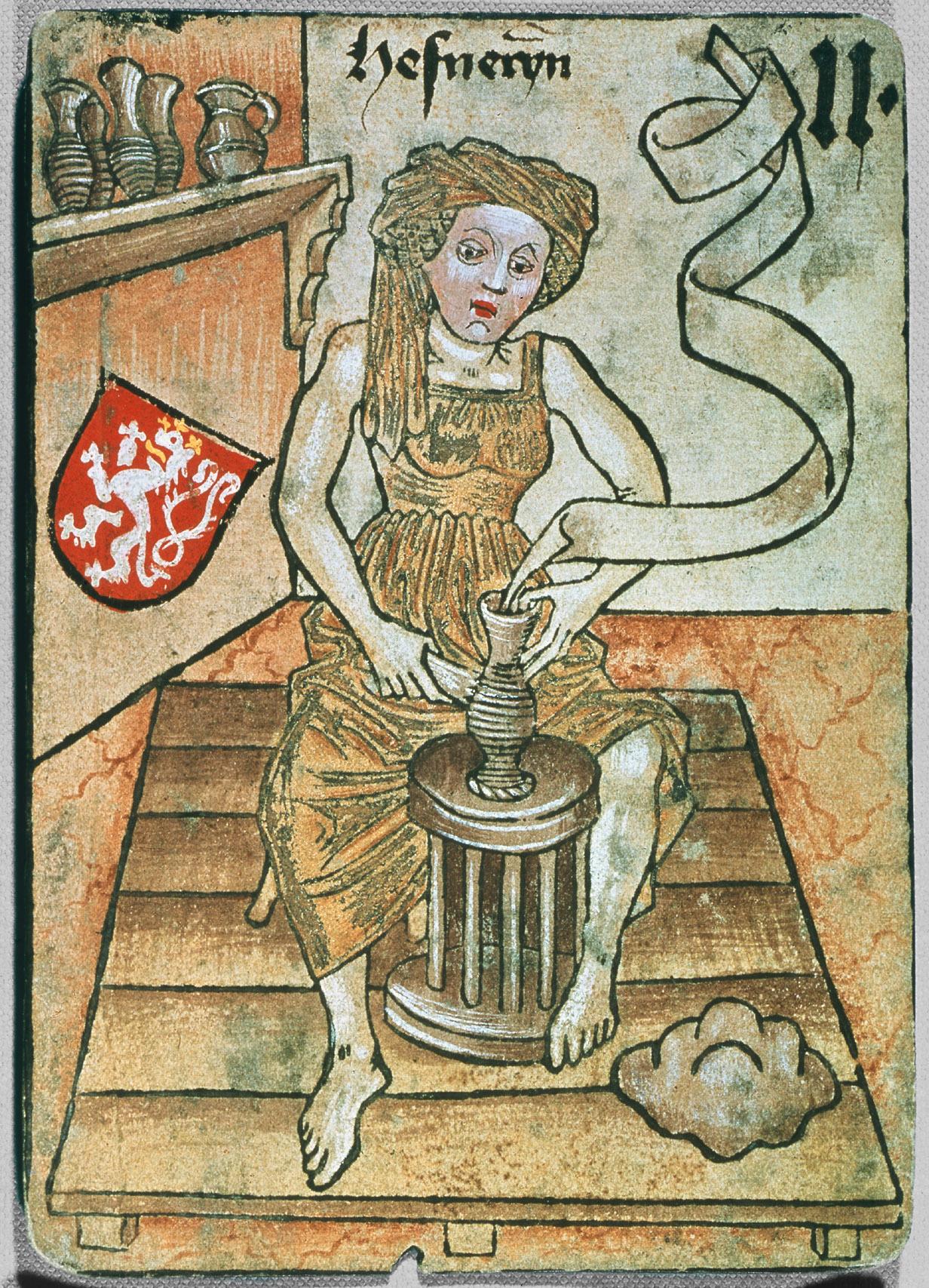image 14 Playing card from the Hofämterspiel 1455 ©Kunsthistorisches Museum, Wien, Kunstkammer