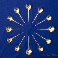 replica brass spoons, 15th century