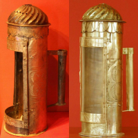 reconstruction of a lantern from Museum Lund