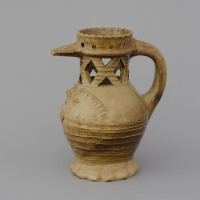 reconstruction of a puzzle jug from Raeren / 1475-1525