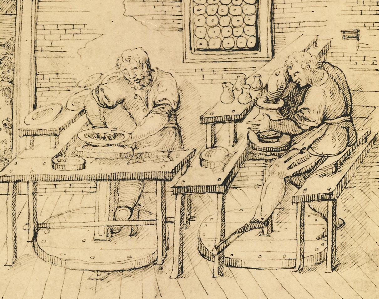 image 22 illustration from Li tre libri dell'arte del vasaio by Cipriano Piccolpasso, c. 1557, National Art Library MSL18617446